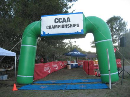 Finish Line at the California Collegiate Athletic Association Cross Country Championships 2011