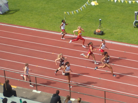 Section 3 of 12 of the Womens 200, Day 2, San Francisco State Distance Carnival, 2016