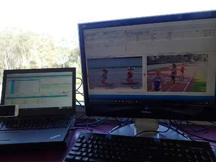 Six Laps to Go (Splits with FinishLynx), W3000S, Mathis Invitational, SF State, 2016