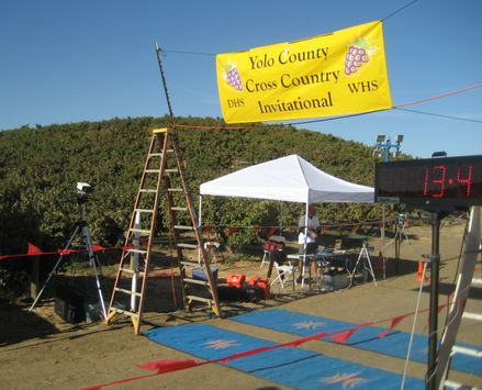 Yolo County Championships Finish Line, 2012